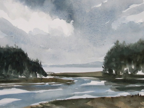 November Sky watercolour Andrew Henderson