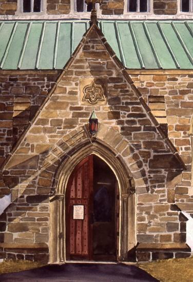 South Door watercolour Andrew Henderson