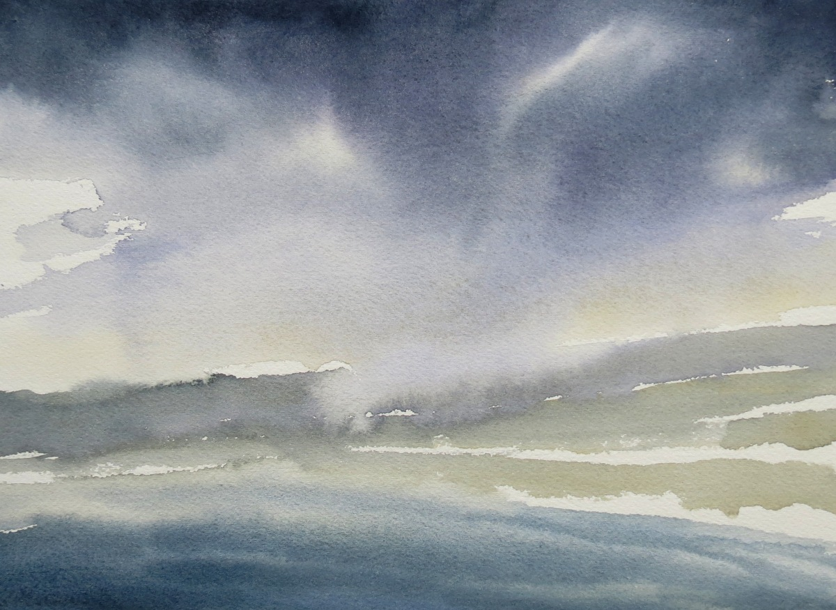 Squall watercolour Andrew Henderson
