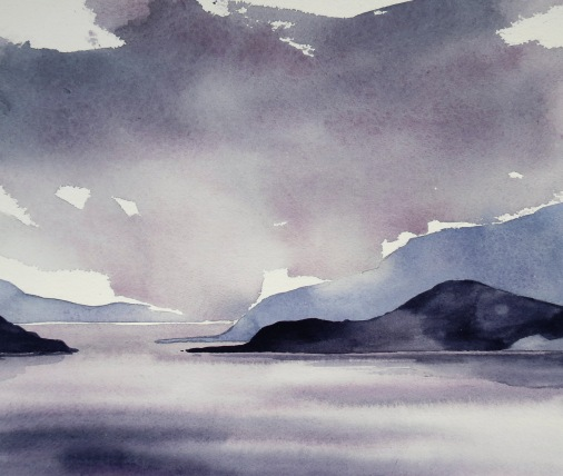 Along the Channel watercolour Andrew Henderson
