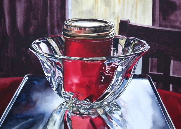 Crimson Vessel watercolour Andrew Henderson