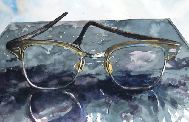 Eye Piece watercolour Andrew Henderson