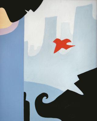 Red Bird acrylic Andrew Henderson