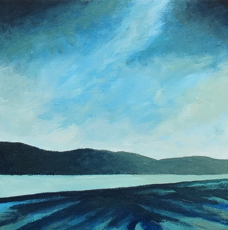 along a northern shore acrylic andrew henderson