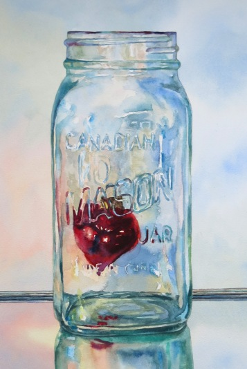 preserved heart watercolour andrew henderson