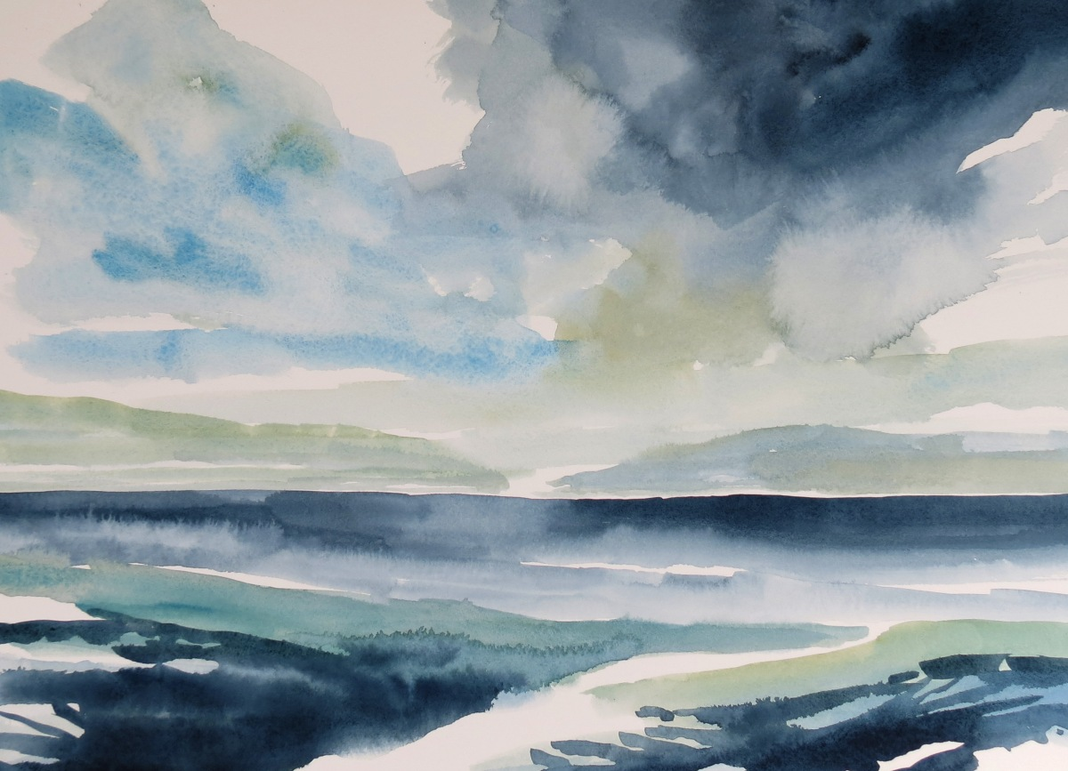 Gulf Water watercolour Andrew Henderson