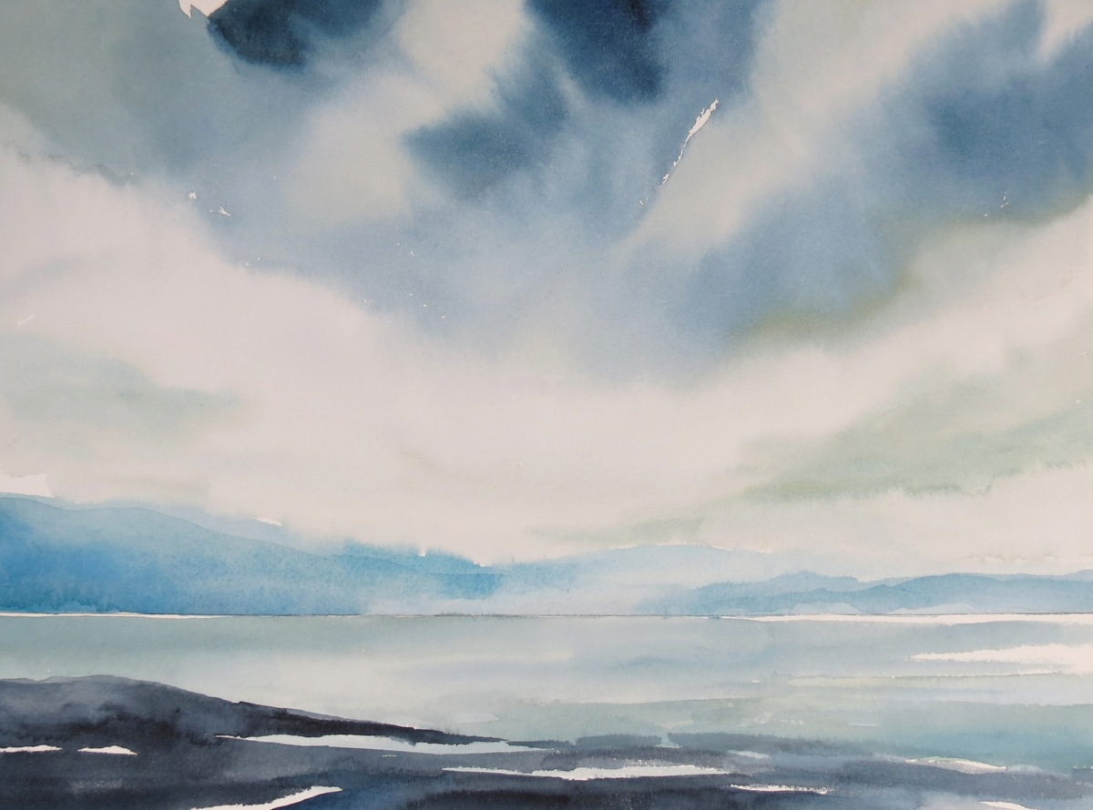 Ice Pack watercolour Andrew Henderson
