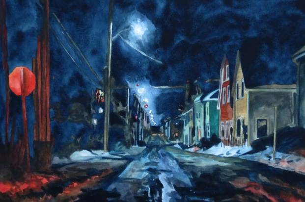 Nightscape watercolour Andrew Henderson