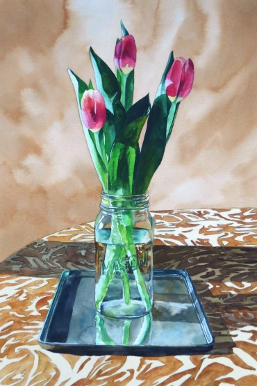 Table Top Trio watercolour Andrew Henderson