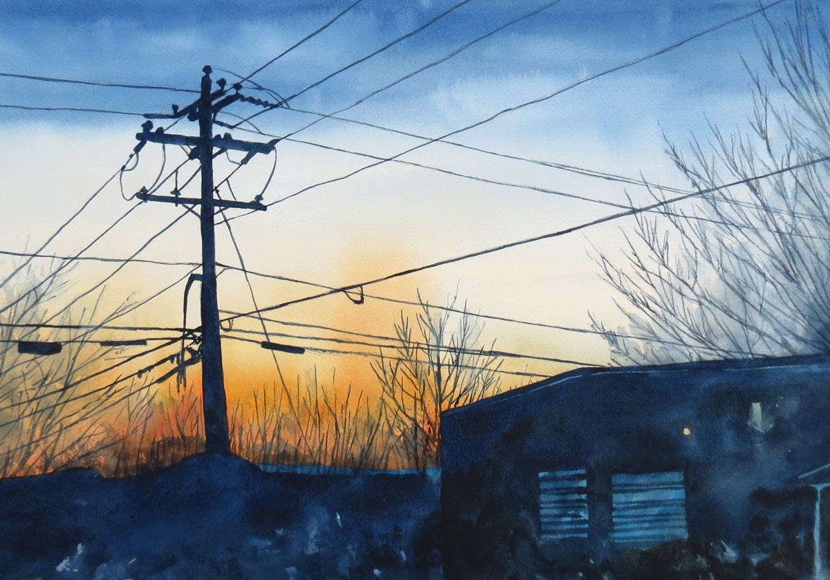 Dusk watercolour Andrew Henderson