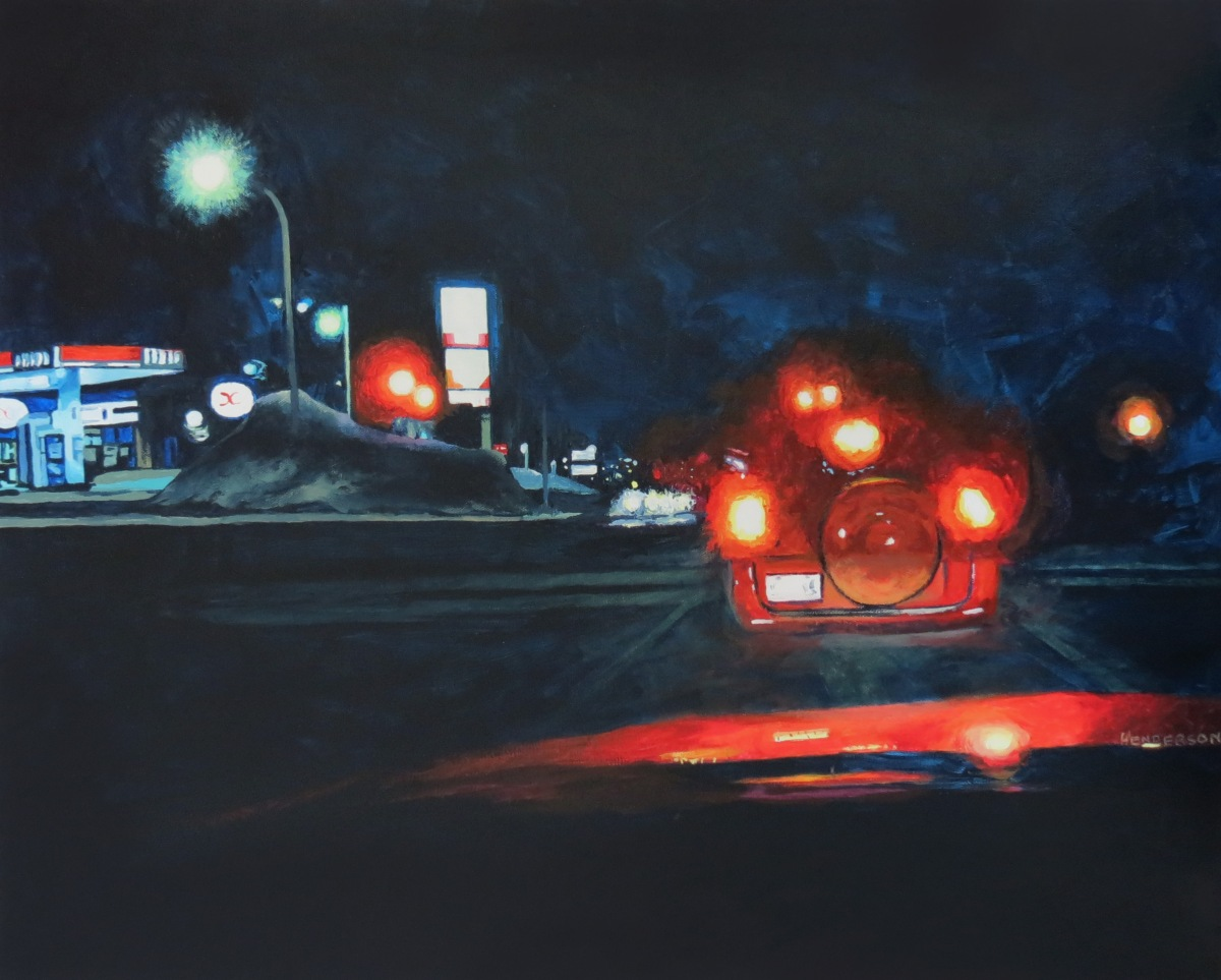 Night Station acrylic Andrew Henderson