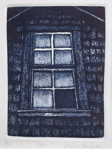 Attic etching Andrew Henderson