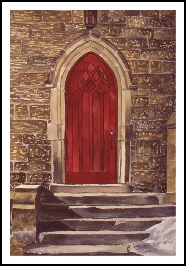 Red Door watercolour Andrew Henderson