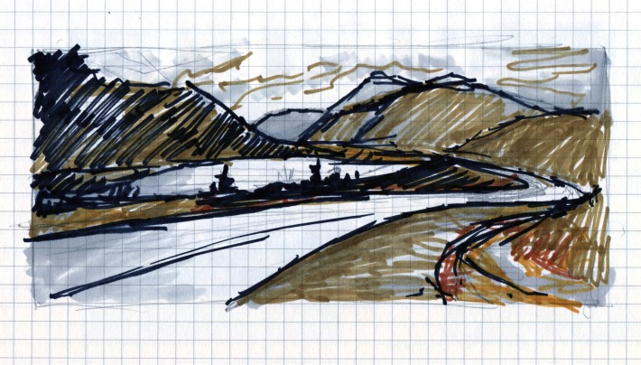 Long Road Home sketch Andrew Henderson