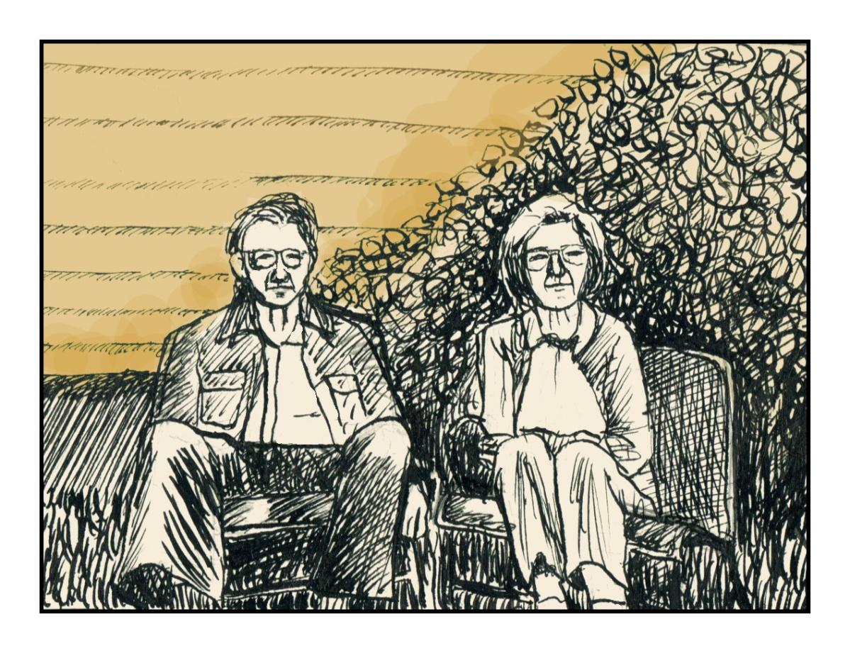 Garden Chairs sketch Andrew Henderson
