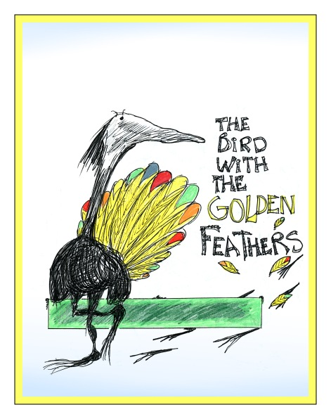 Bird With The Golden Feathers sketch Andrew Henderson
