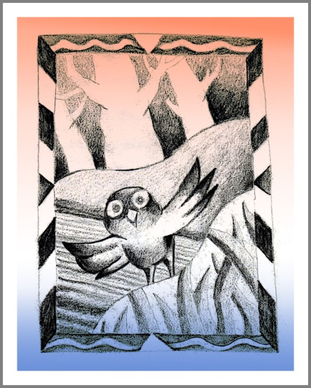 Tree Owl sketch Andrew Henderson