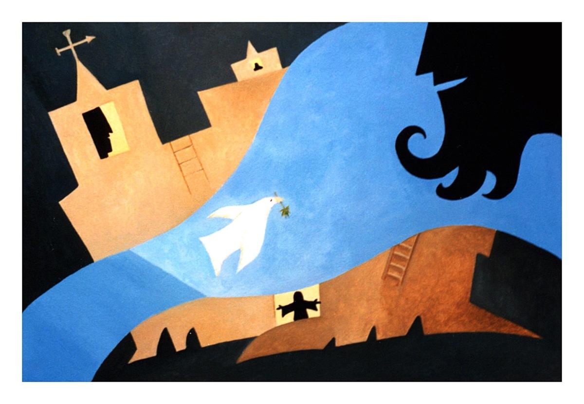 White Bird acrylic Andrew Henderson