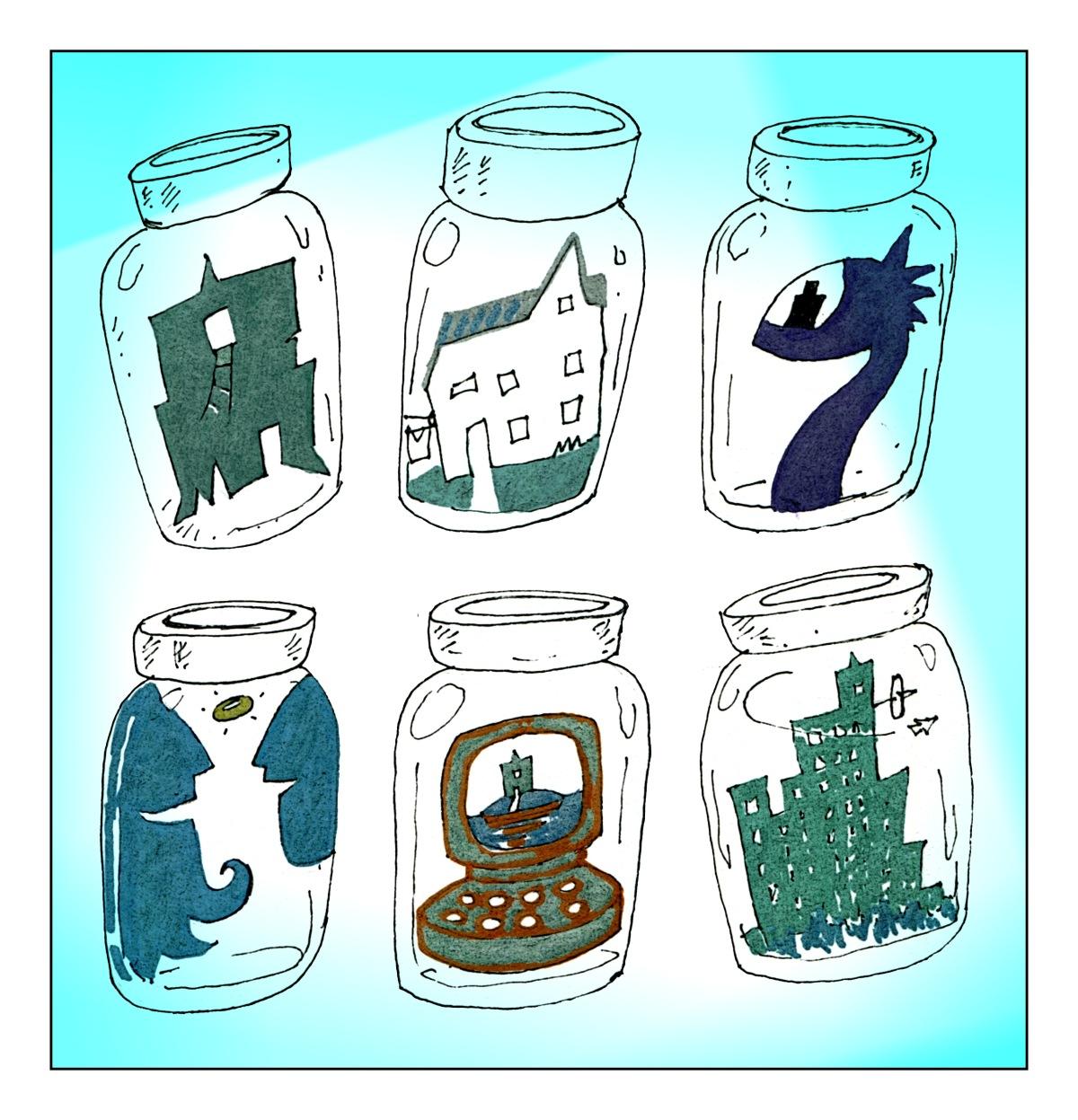 6 Jars sketch Andrew Henderson