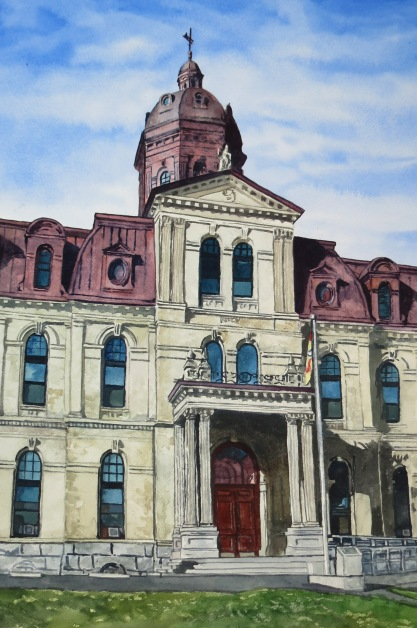 NB Legislature watercolour Andrew Henderson