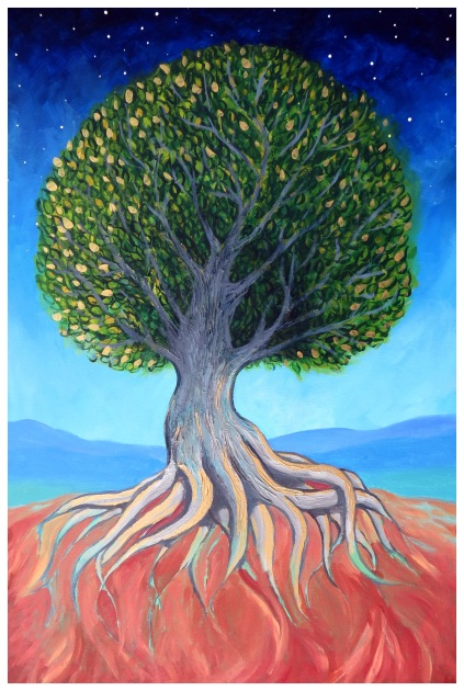 Rooted and Branching acrylic 36x24 Andrew Henderson