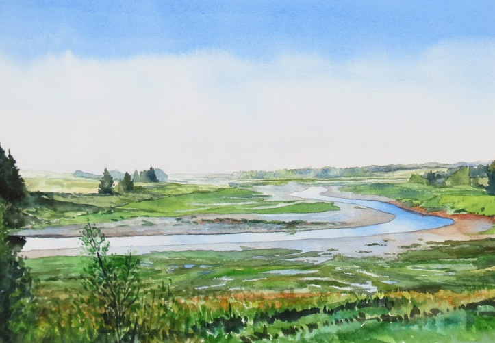 Orwell River watercolour Andrew Henderson