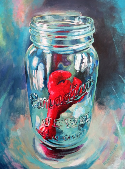 Preserved Lobster acrylic Andrew Henderson