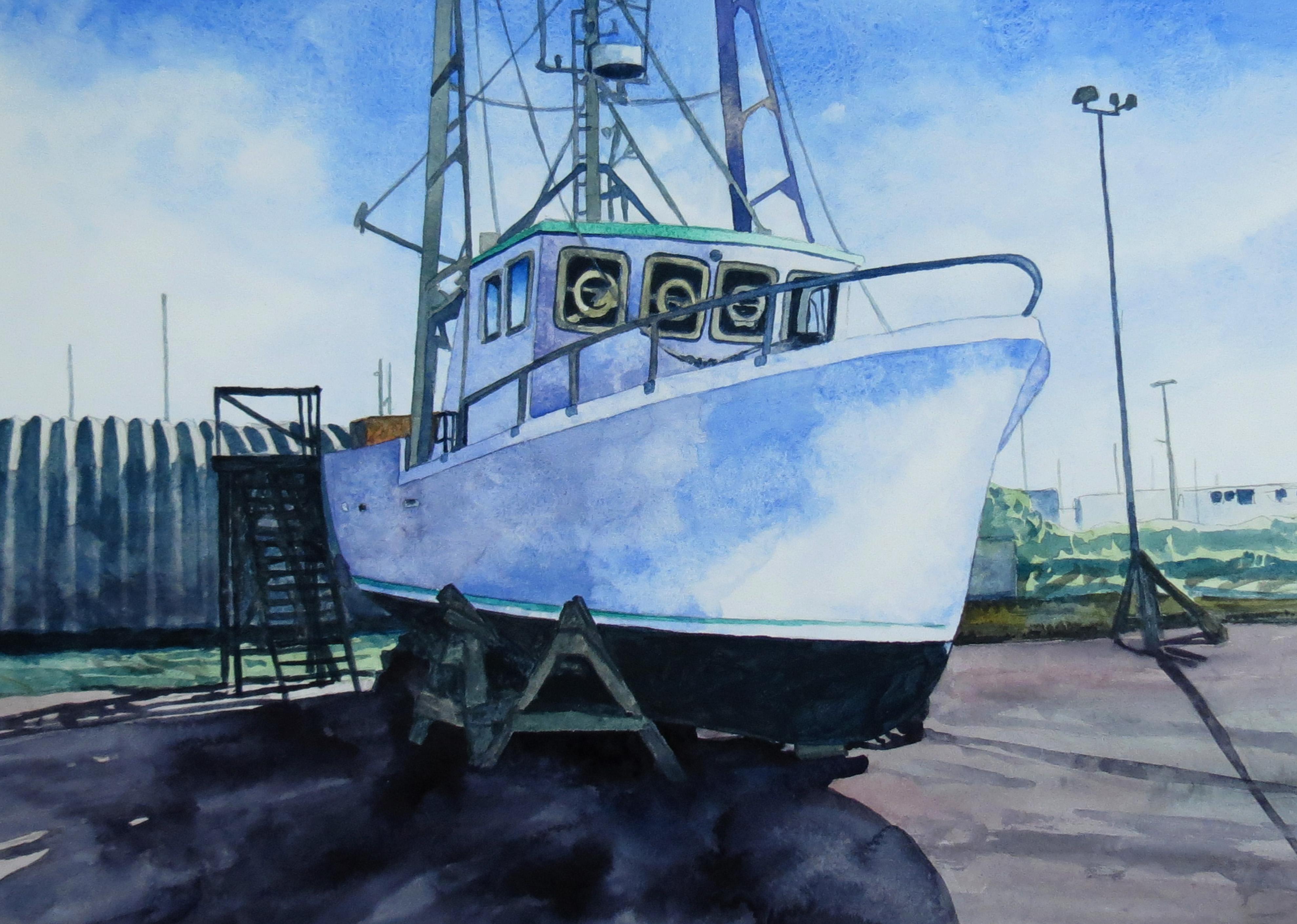 Drydock watercolour Andrew Henderson