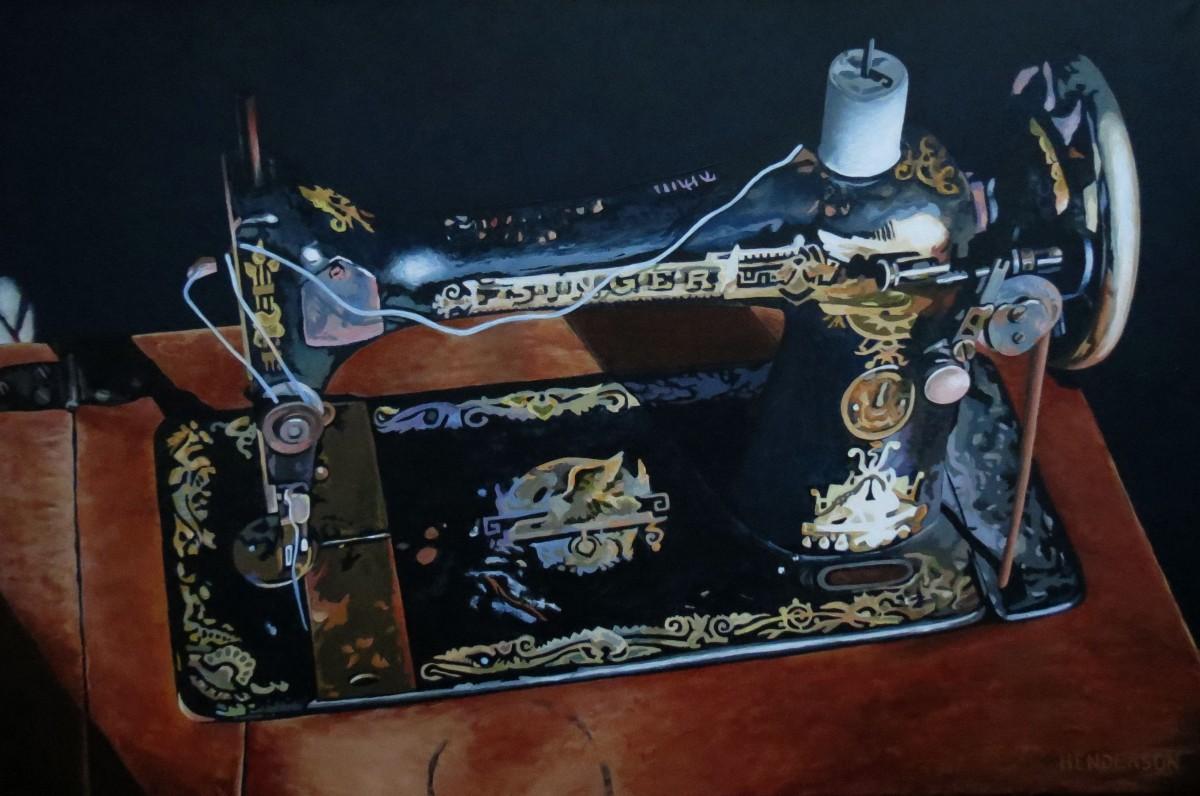 Phoebe's Singer 24x36 acrylic Andrew Henderson